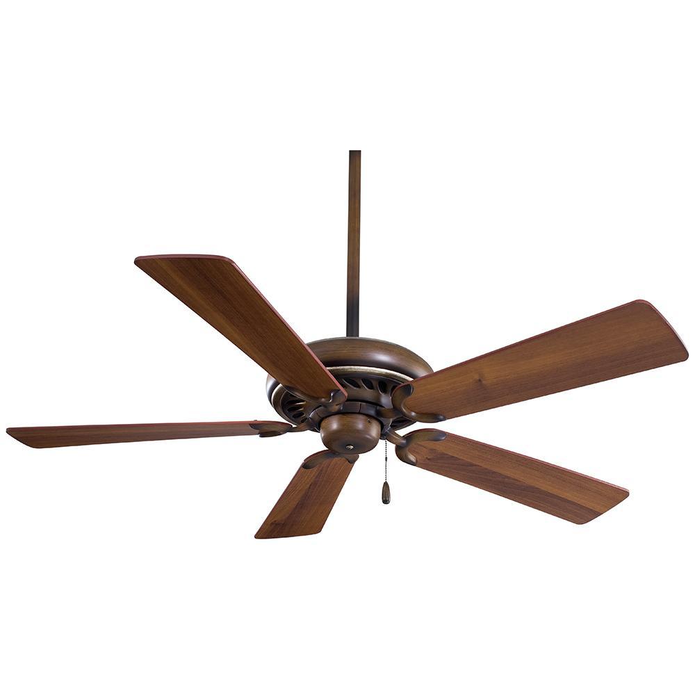 Supra 52 in. Indoor Belcaro Walnut Ceiling Fan