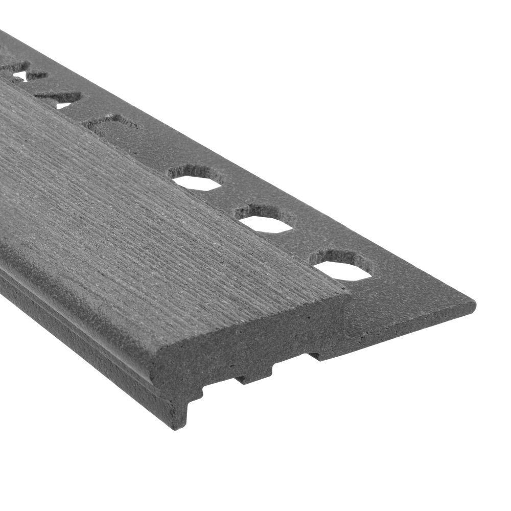 Novopeldano MaxiKenya Ash 1/2 in. x 98-1/2 in. Composite Maxi Stair Nosing Trim