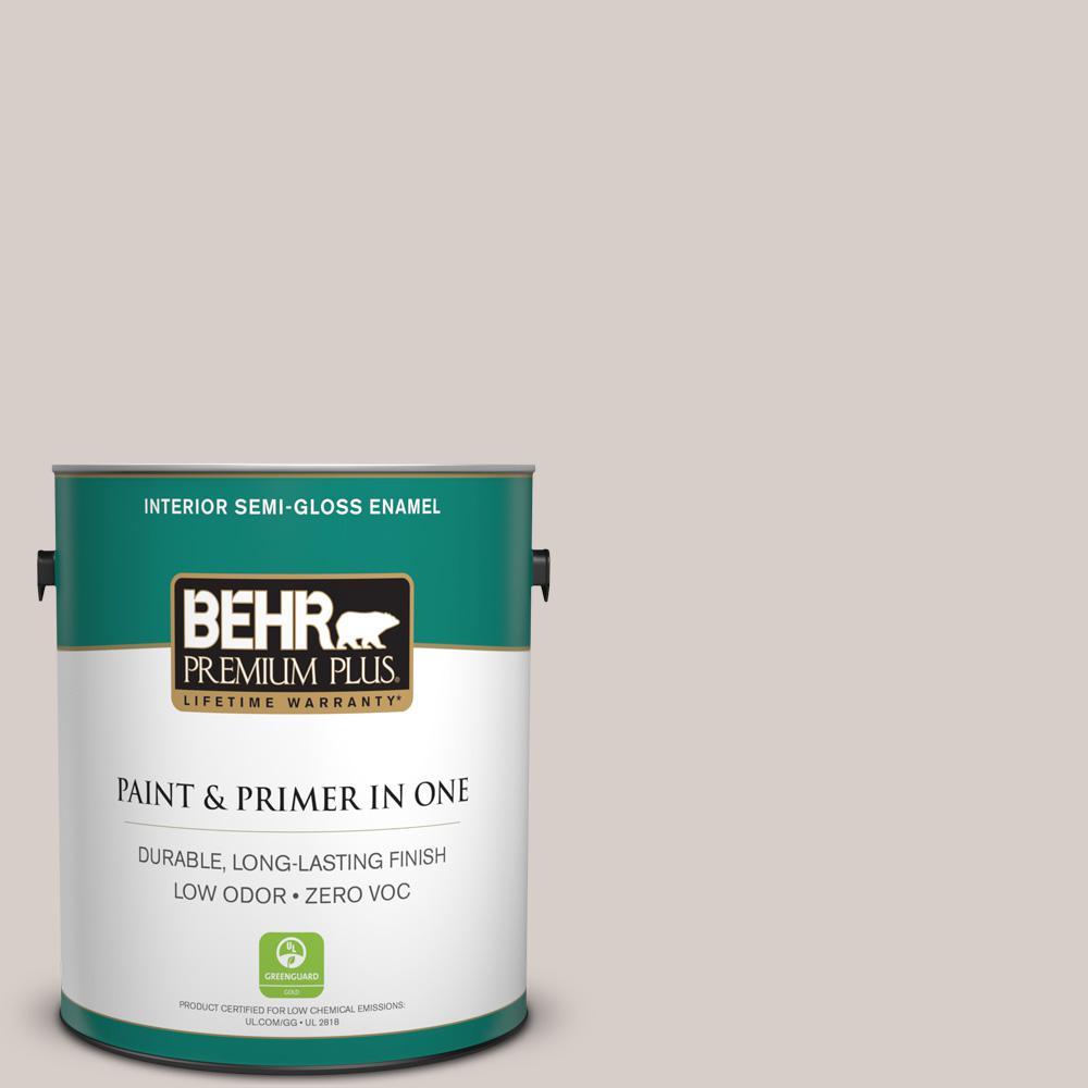 BEHR Premium Plus 1-gal. #T14-7 Offbeat Semi-Gloss Enamel Interior Paint