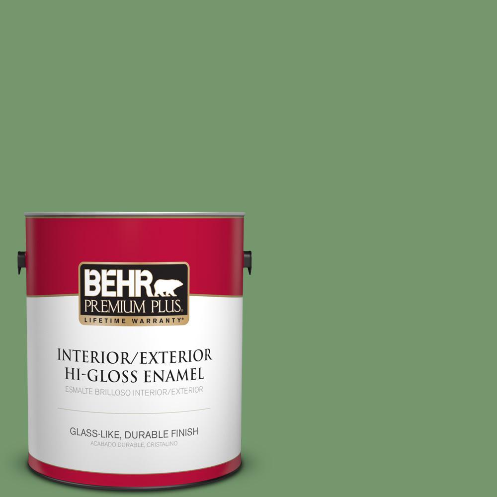 1 gal. #PPU11-03 Botanical Green Hi-Gloss Enamel Interior/Exterior Paint