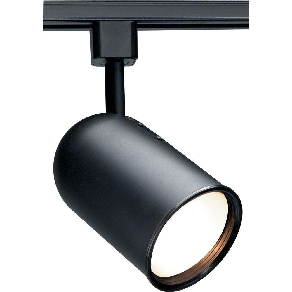 1-Light R30 Black Bullet Cylinder Track Lighting Head
