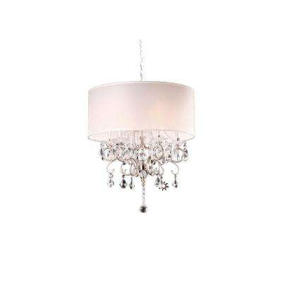 6-Light Silver Crystal Chandelier