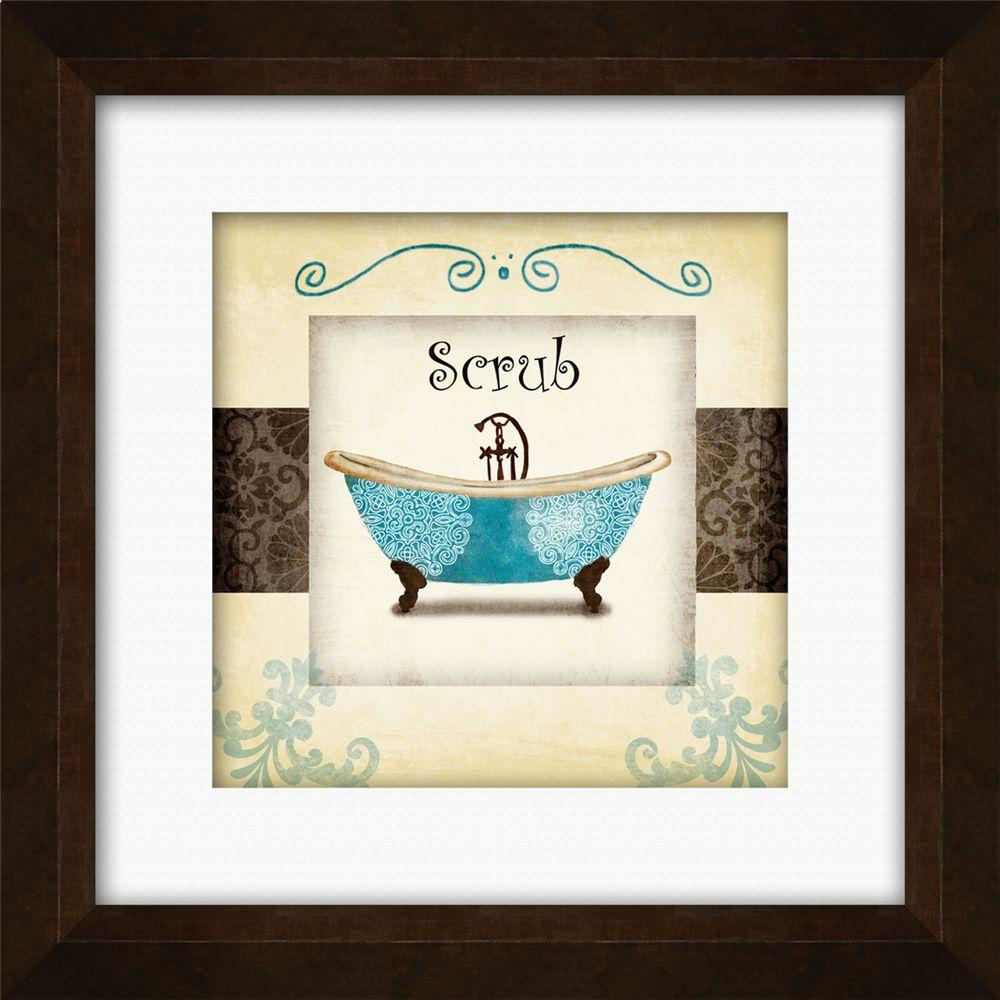 Swirl Bath I B  Framed Wall Art-1-17005B - The Home Depot & PTM Images 17-1/4 in. x 17-1/4 in.