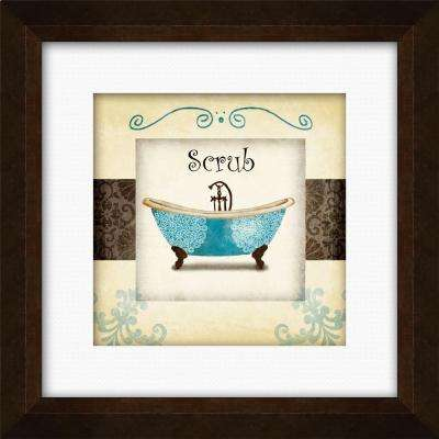 "17-1/4 in. x 17-1/4 in. ""Swirl Bath I B"" Framed Wall Art"