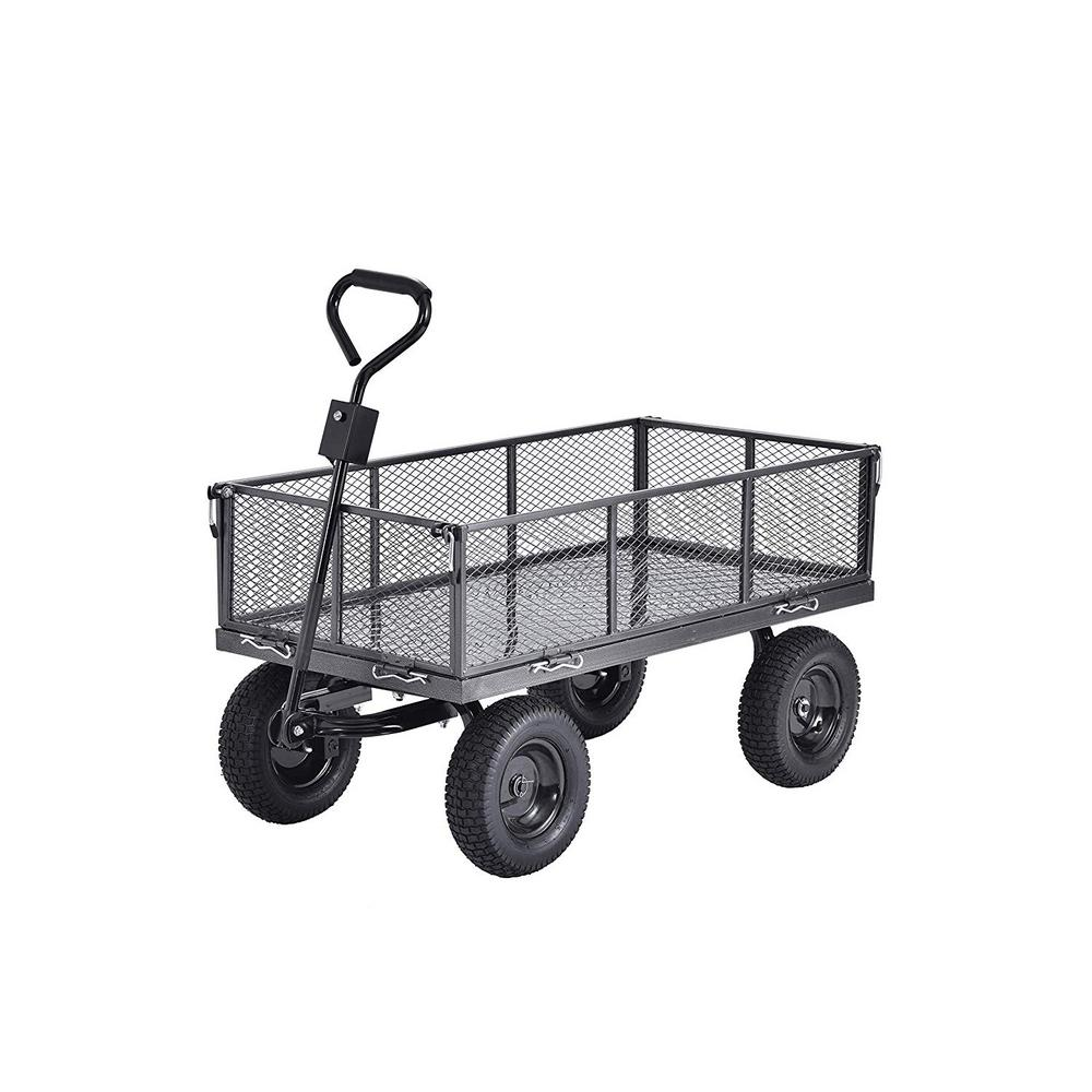 Muscle Rack Carts 5 cu. ft. 24 in. W Steel Garden Cart Wagon with Removable Sides, 800 lb. Capacity