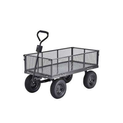 Carts 5 cu. ft. 24 in. W Steel Garden Cart Wagon with Removable Sides, 800 lb. Capacity