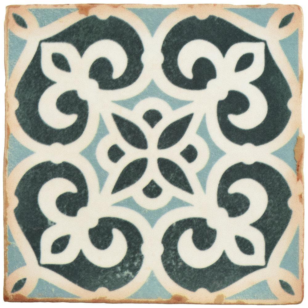 Archivo Bakula Encaustic 4-7/8 in. x 4-7/8 in. Ceramic Floor and Wall Tile (5.9 sq. ft. / case)