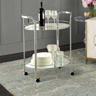 Chrome Contemporary Serving Cart