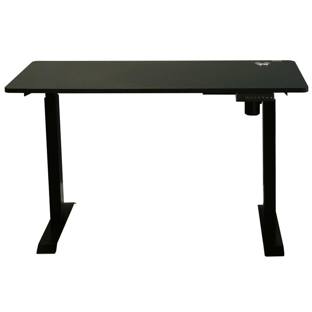 24 in. Rectangular Black Standing Desk