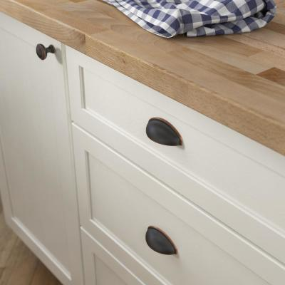 Davidson 2-1/2 in. (64 mm) Center-to-Center Bronze with Copper Highlights Cup Drawer Pull