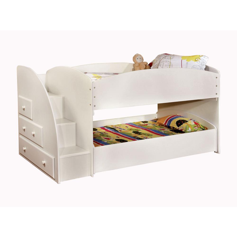 Merritt in White Twin Bunk Bed