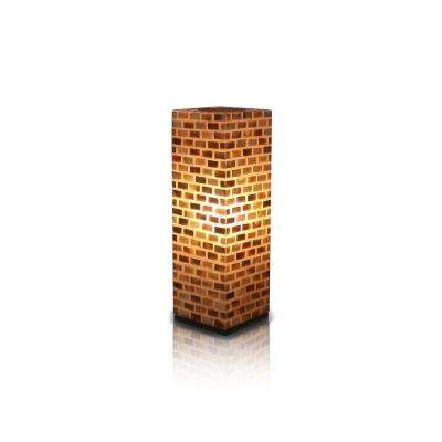 Valentti 25 in. Pearlescent Table Lamp With Natural Shells Arranged in Brick Design