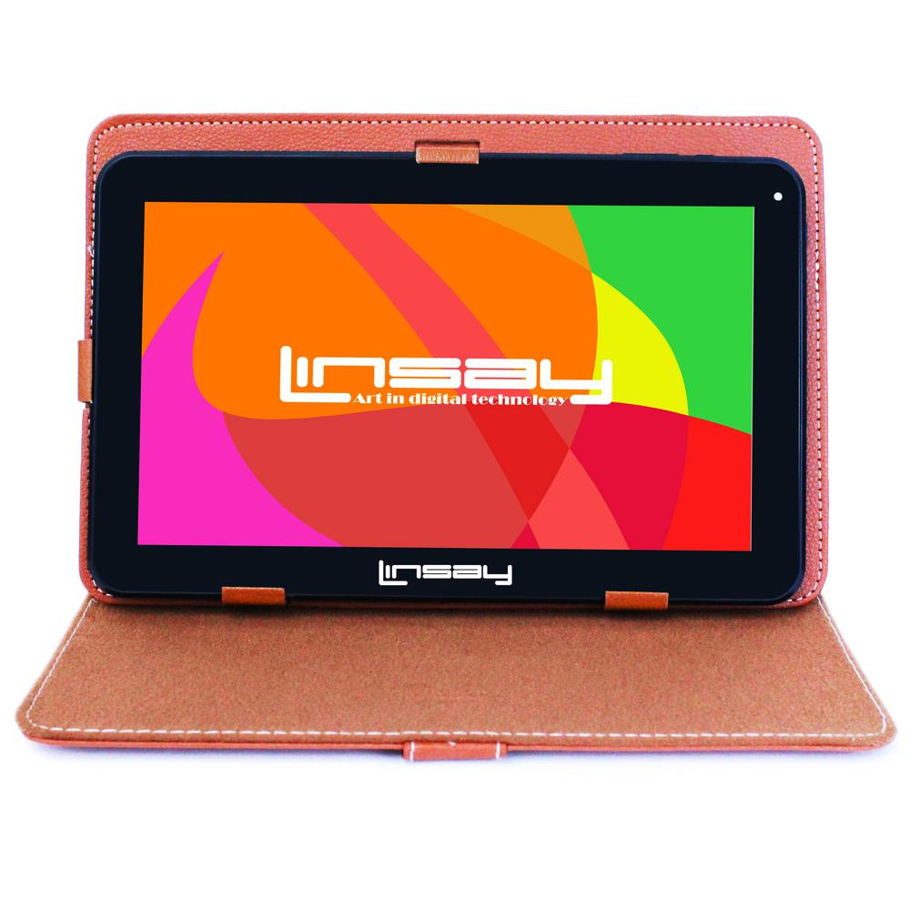 LINSAY 10.1 in. 2GB RAM 16GB Android 9.0 Pie Quad Core Tablet with Brown Case was $179.99 now $84.99 (53.0% off)
