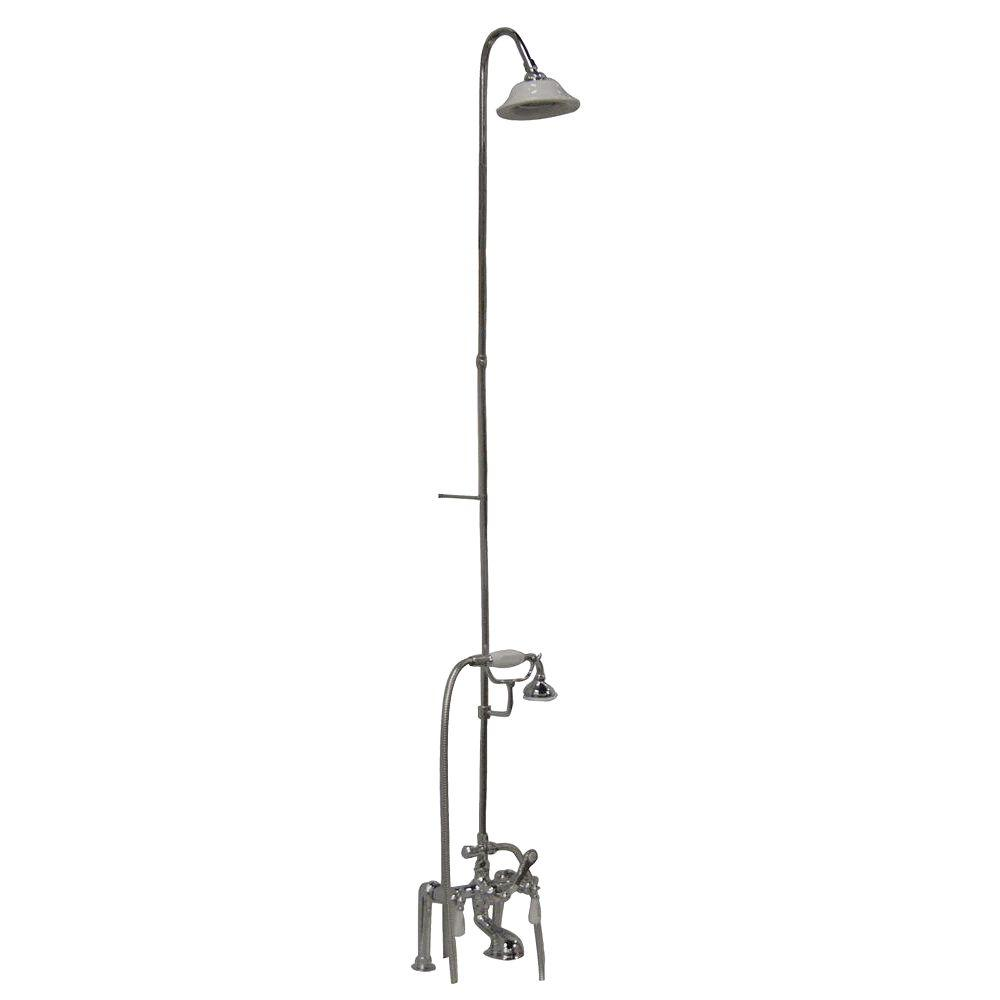 shower riser for clawfoot tub. Barclay Products 3 Handle Claw Foot Tub Faucet with Riser  Hand Shower and Showerhead
