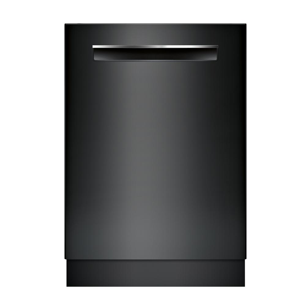 Bosch 500 Series Top Control Tall Tub Pocket Handle Dishwasher in Black with Stainless Steel Tub, AutoAir, 44dBA