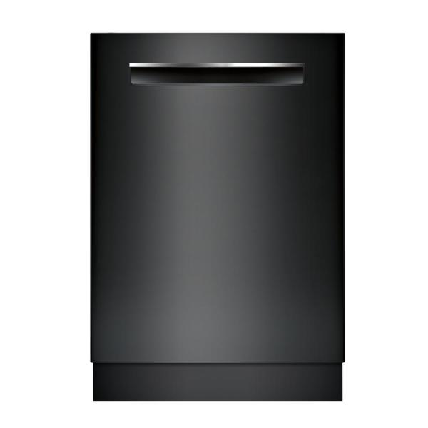500 Series Top Control Tall Tub Pocket Handle Dishwasher in Black with Stainless Steel Tub, AutoAir, 44dBA