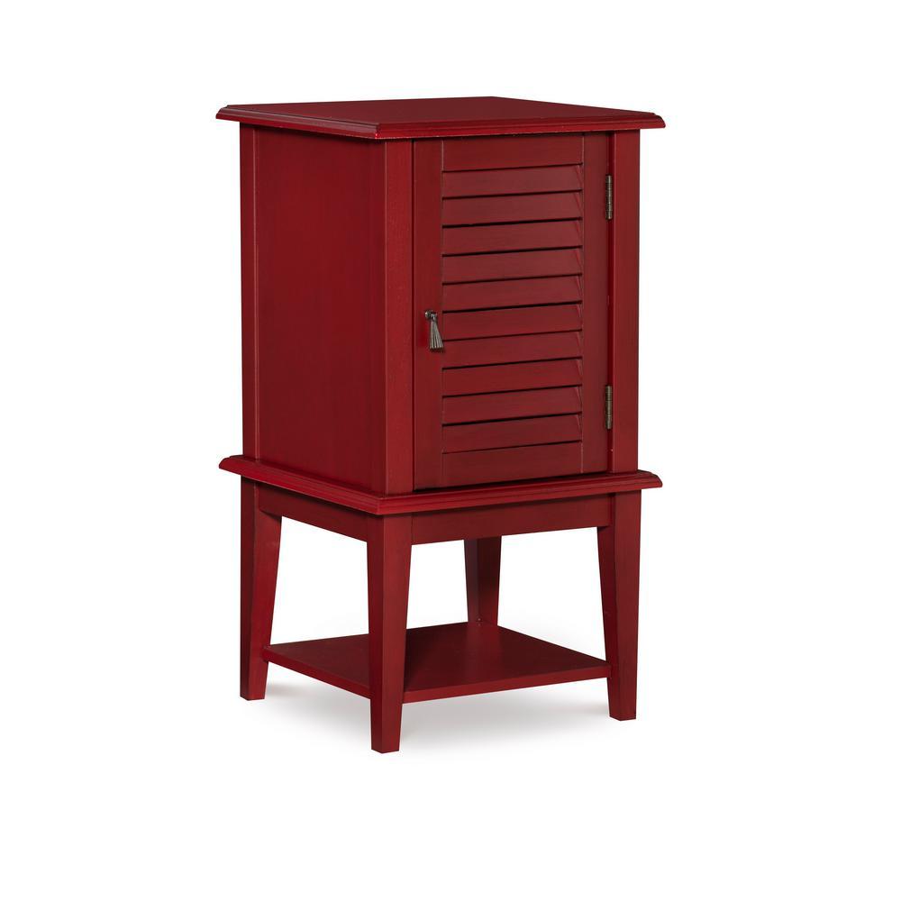 Red Shutter Door Table