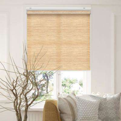 Snap-N'-Glide Felton Cream Polyester Cordless Horizontal Roller Shades - 35 in. W x 72 in. L
