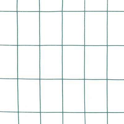 3 ft. x 50 ft. 16-Gauge Green Vinyl Coated Welded Wire Fence with Mesh Size 3 in. x 2 in.