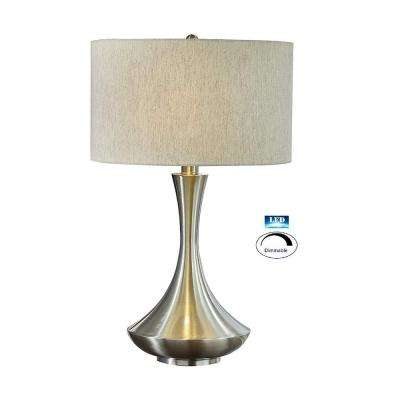 Aladdin 2-Light LED Table Lamp, 28.5 in., Brushed Steel