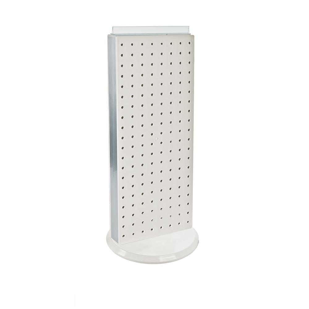 Azar 700508-WHT 8-Inch W by 20-Inch H Revolving White Pegboard Counter Unit White