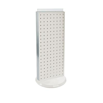 20 in. H x 8 in. W Counter Pegboard Display in White