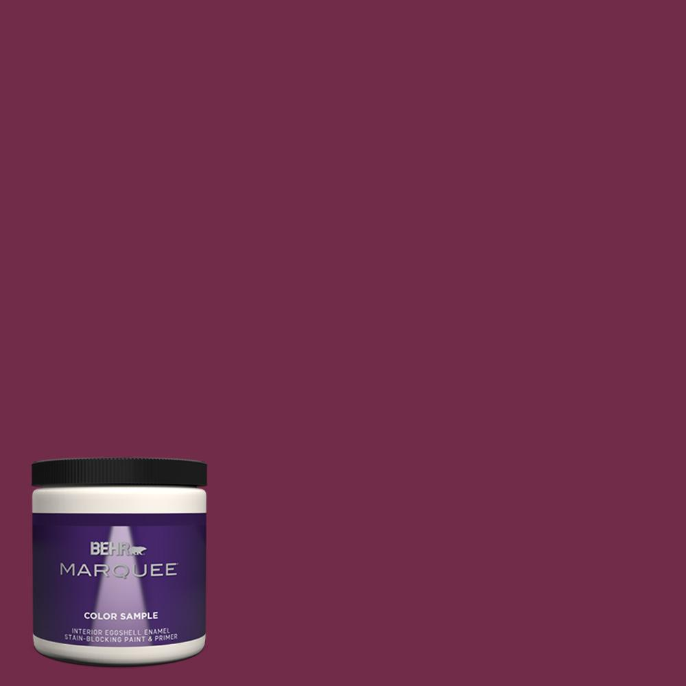 Behr Marquee 8 Oz Icc 110 Vintage Merlot Eggshell Enamel Interior Paint And Primer In One Sample Mq31316 The Home Depot