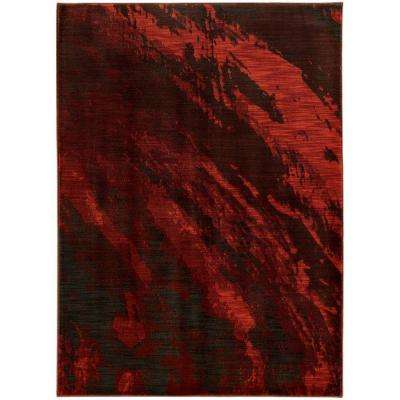 Java Red 5 ft. 3 in. x 7 ft. 6 in. Area Rug