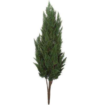 56 In. Polyblend Outdoor Plastic Cypress Bush