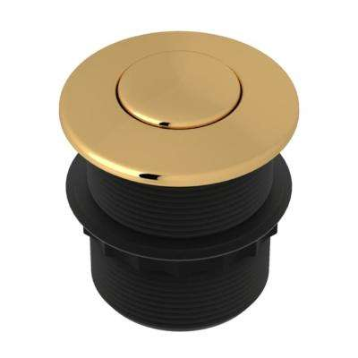 1.75 in. Air Activated Switch Button Only for Waste Disposal in Italian Brass