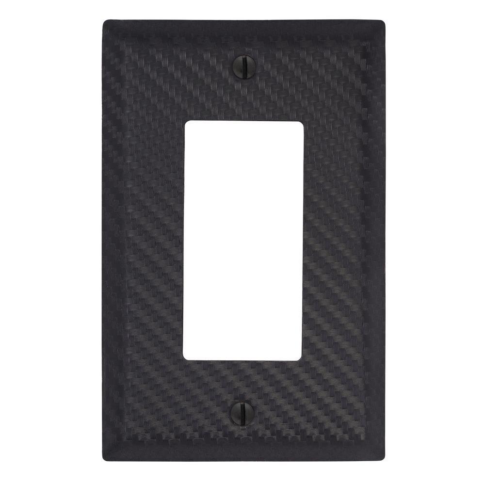 Branston 1 Gang Rocker Steel Wall Plate - Black