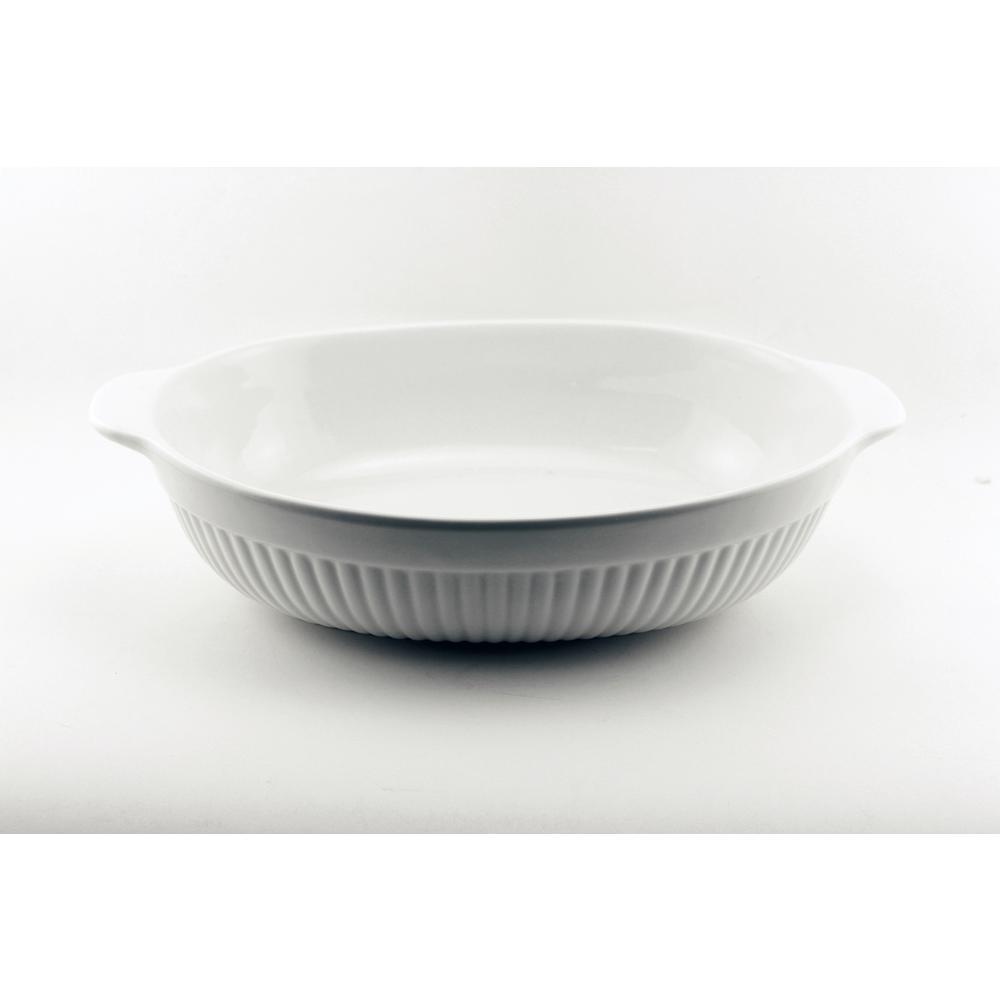 Bianco Oval Porcelain Baking Dish