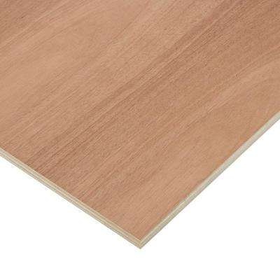 3/4 in. x 2 ft. x 8 ft. PureBond Mahogany Plywood Project Panel (Free Custom Cut Available)