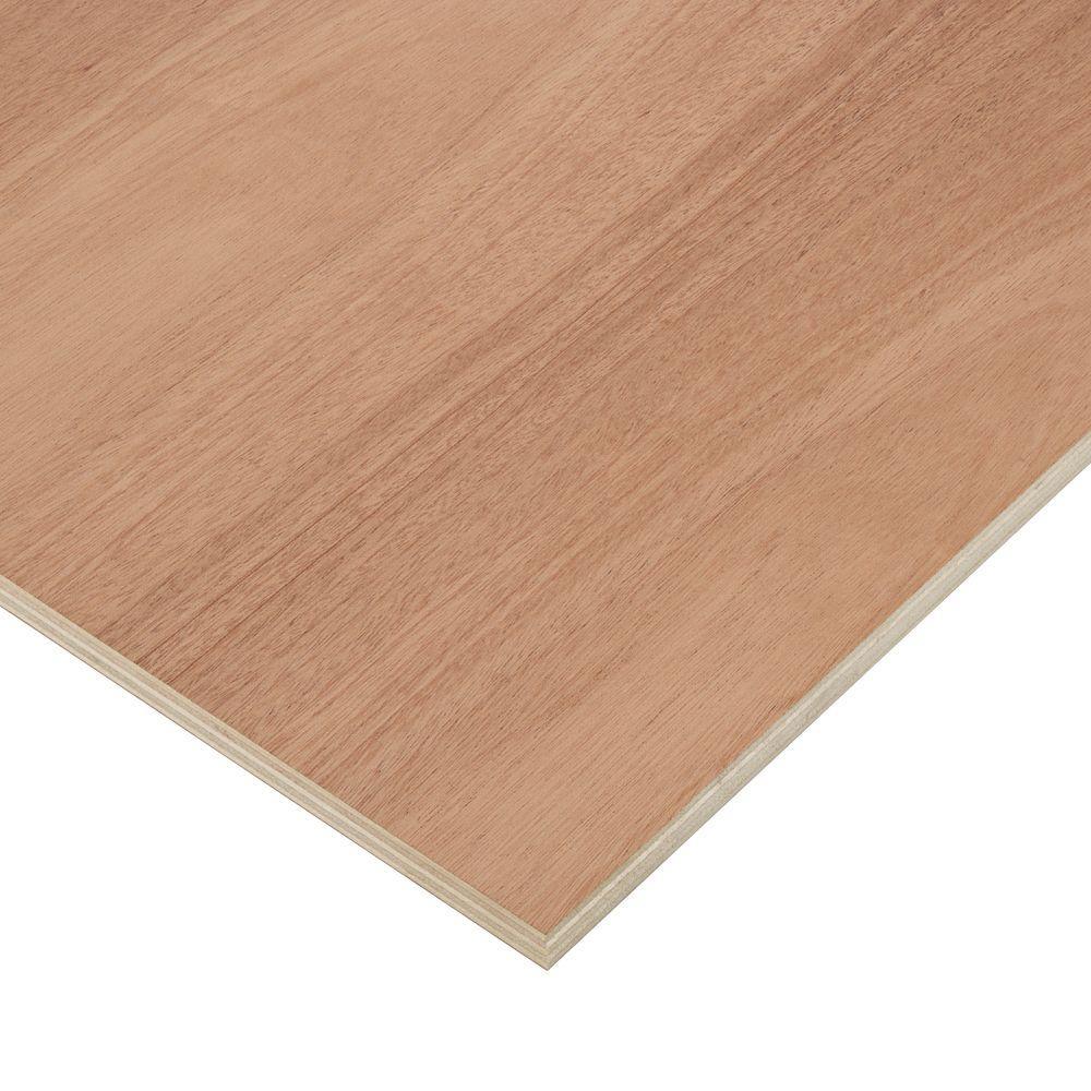 3/4 in. x 2 ft. x 8 ft. PureBond Mahogany Plywood Project Panel (Free Custom Cut Available)