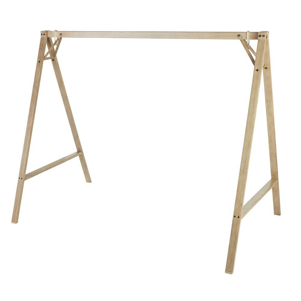 Hampton Bay Cane A-Frame Patio Swing-GSS00208B-5 - The Home Depot