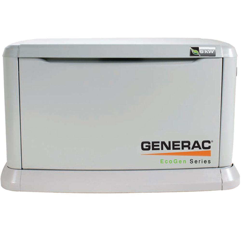 Generac 6,000-Watt Liquid Propane-Fueled Automatic Backup Generator for Off-Grid Alternative Energy Systems