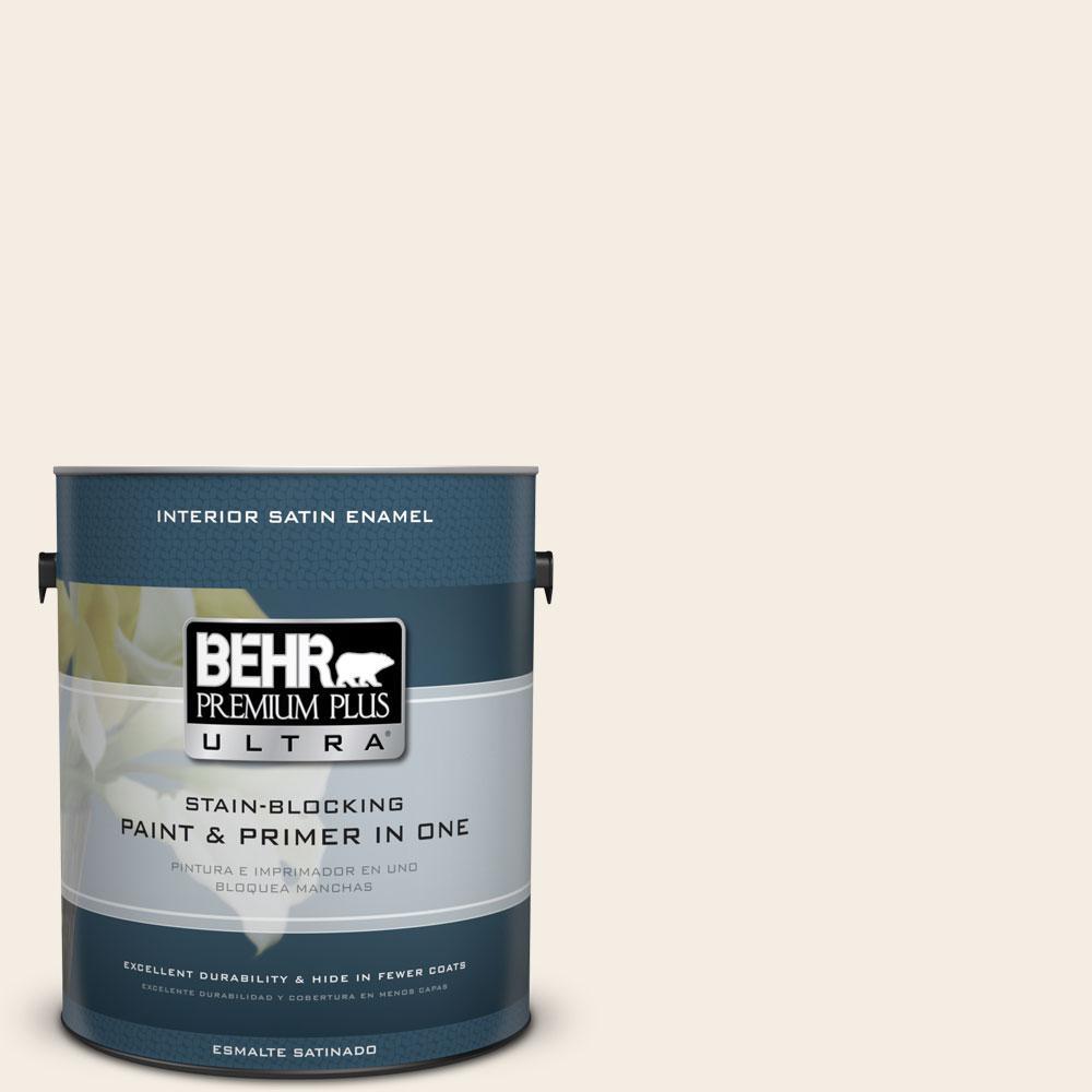 BEHR Premium Plus Ultra 1-Gal. #PPU5-9 Bleached Linen Satin Enamel Interior Paint