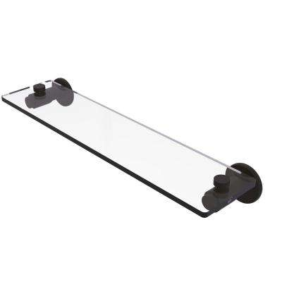Tribecca Collection 22 in. Glass Vanity Shelf with Beveled Edges in Oil Rubbed Bronze