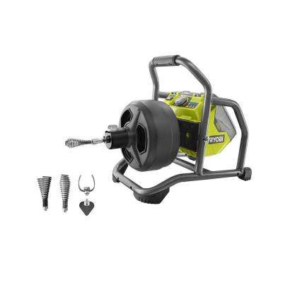 18-Volt ONE+ Hybrid Drain Auger Kit with 50 ft. Cable, 2.0 Ah Battery, 18-Volt Charger and Cutter Tips (4-Piece)