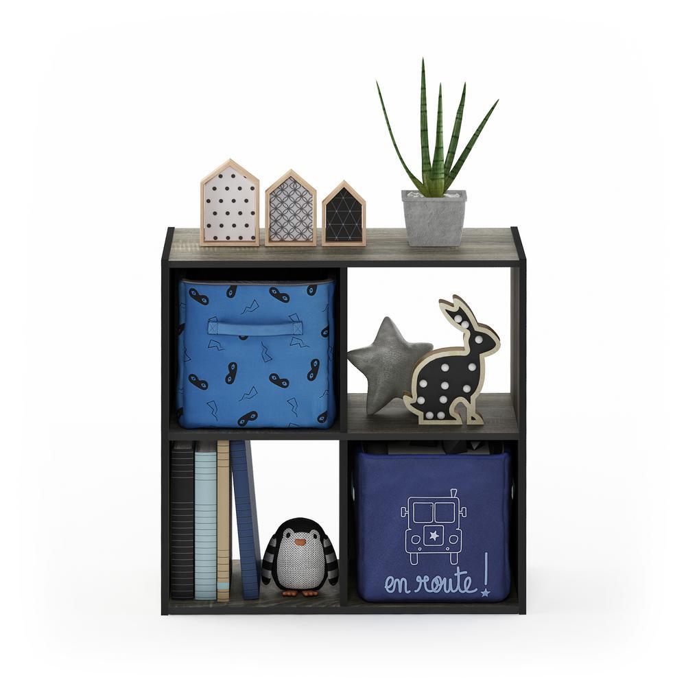Furinno Pelli French Oak Grey Cubic Storage Cabinet