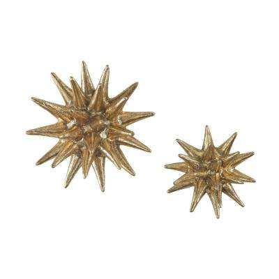 Parsec Gold Composite Wall Decor (Set of 2)