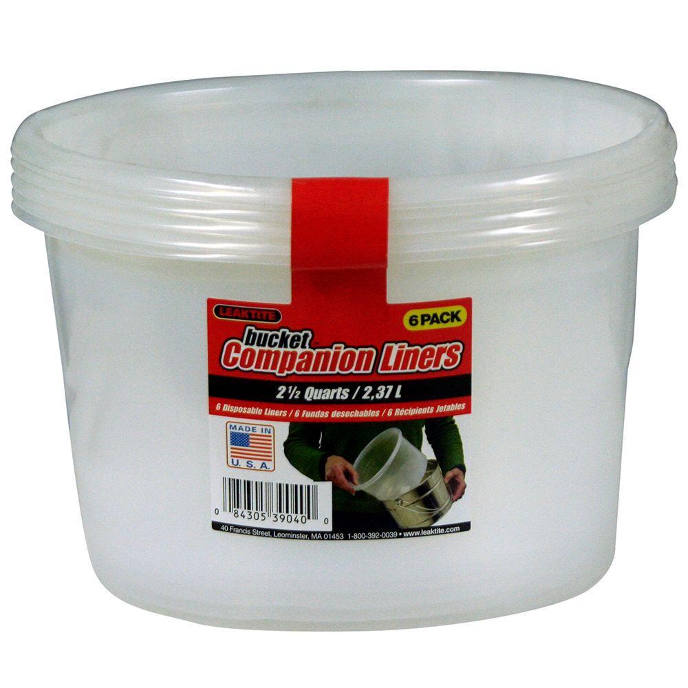 Leaktite 2.5-qt. Bucket Companion Liners (18-Pack)
