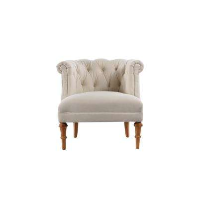 Katherine Sky Neutral Tufted Accent Chair