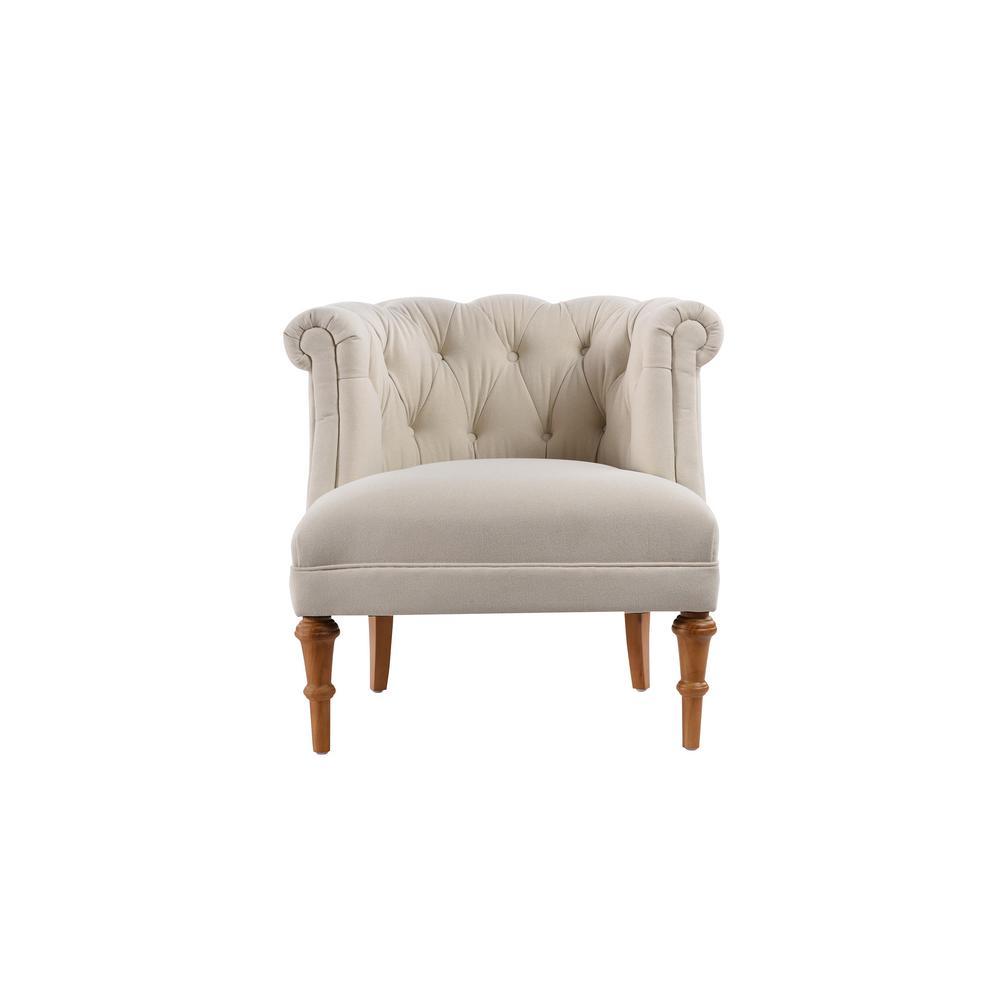 Jennifer Taylor Katherine Sky Neutral Tufted Accent Chair 2483-970