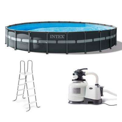 Intex 24 ft. x 52 in. Ultra XTR Frame Round Swimming Pool Set with Sand Filter Pump