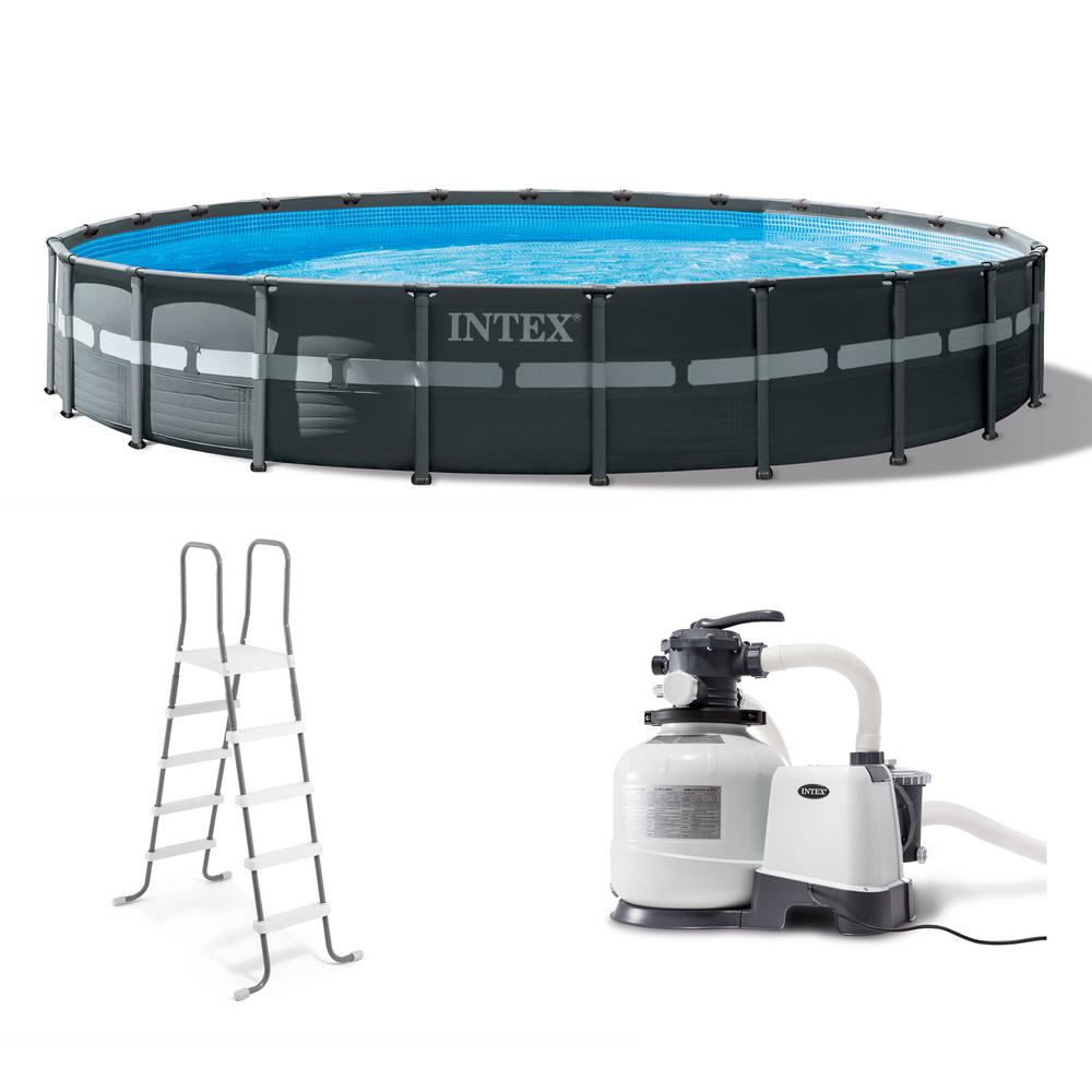 Intex Intex 24 ft. x 52 in. Ultra XTR Frame Round Swimming Pool Set with  Sand Filter Pump