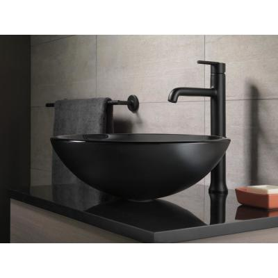 Trinsic Single Hole Single-Handle Vessel Bathroom Faucet in Matte Black