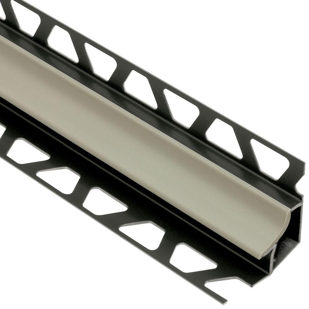 Dilex-HK Grey 11/32 in. x 8 ft. 2-1/2 in. PVC Cove-Shaped Tile Edging Trim