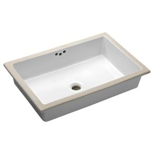 Kohler Kathryn Vitreous China Undermount Bathroom Sink in White with Overflow Drain by KOHLER