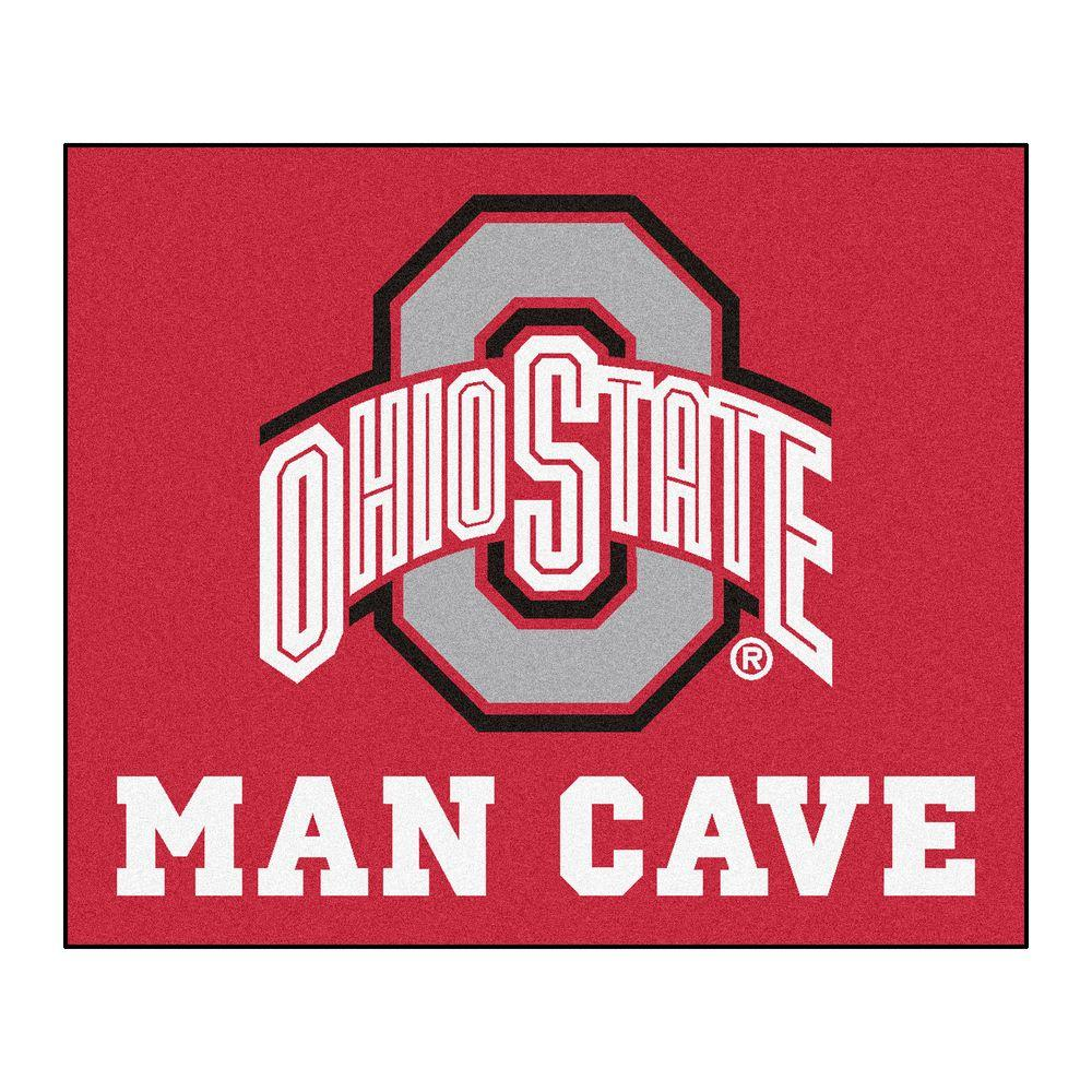 FANMATS Ohio State University Red Man Cave 5 Ft X 6